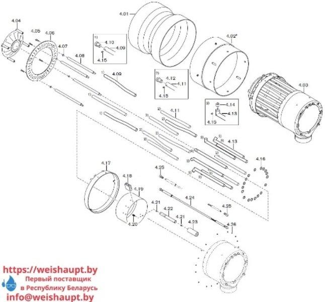 Запчасти к газовым горелочным устройствам Weishaupt G60/2-A ZM-NR (W-FM 100/200). Схема 4.