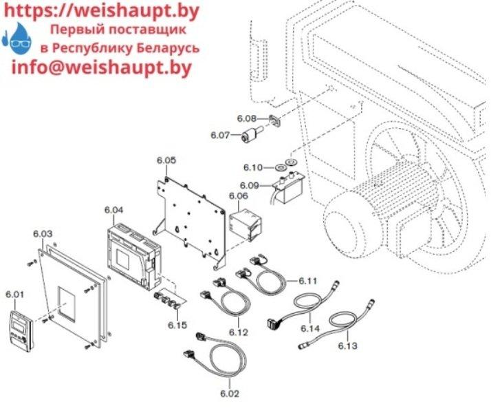Запчасти к газовым горелочным устройствам Weishaupt G60/2-A ZM-NR (W-FM 100/200). Схема 6.