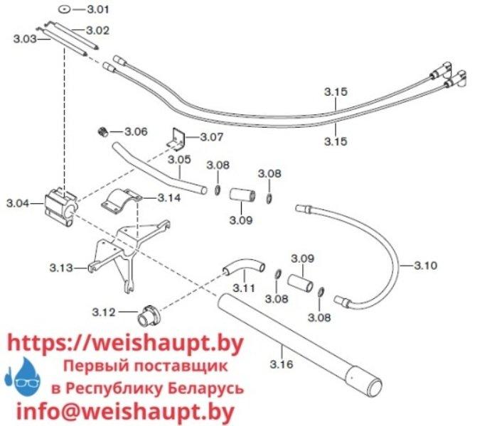 Запчасти к газовым горелочным устройствам Weishaupt G70/1-B ZM-NR. Схема 3.