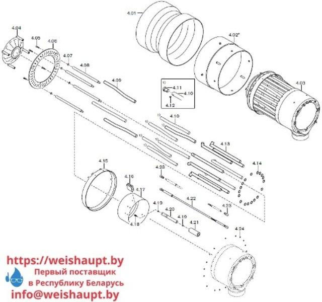 Запчасти к газовым горелочным устройствам Weishaupt G70/1-B ZM-NR. Схема 4.
