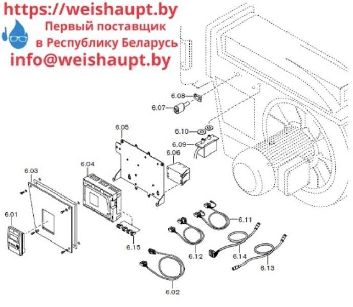 Запчасти к газовым горелочным устройствам Weishaupt . Схема 1.