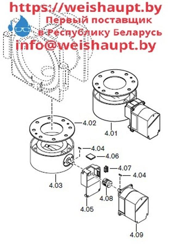 Запчасти к газовым горелочным устройствам Weishaupt G70/2-A ZM-LN. Схема 4.