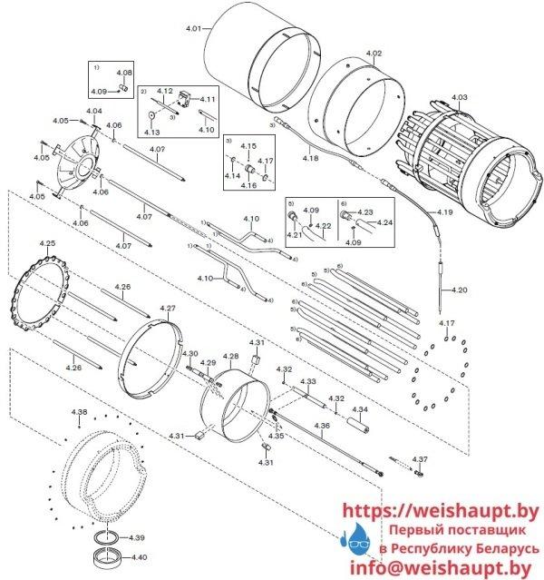 Запчасти к газовым горелочным устройствам Weishaupt G70/3-A ZM-NR. Схема 4.