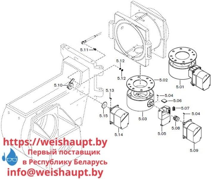 Запчасти к газовым горелочным устройствам Weishaupt G70/3-A ZM-NR. Схема 5.