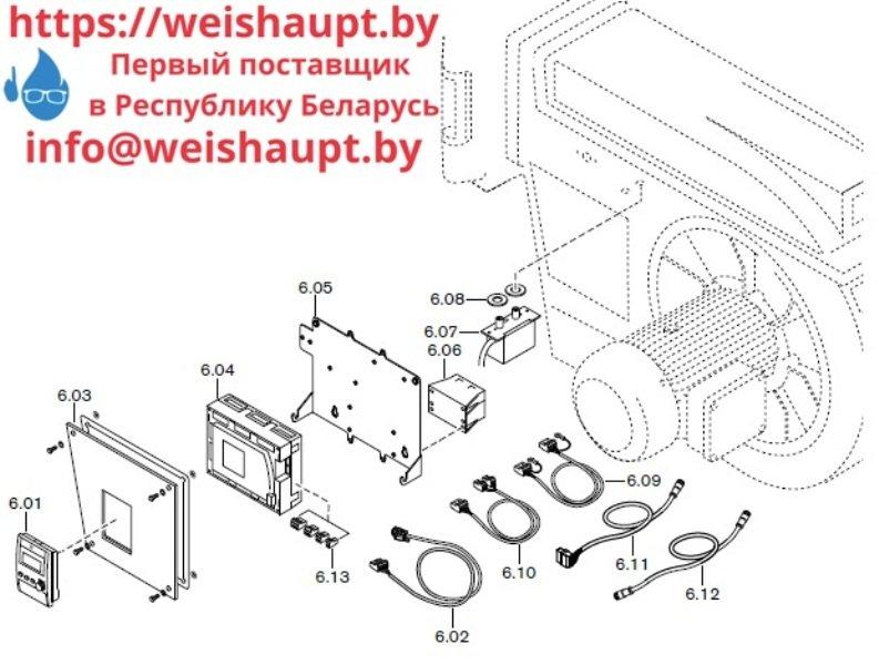 Запчасти к газовым горелочным устройствам Weishaupt G70/3-A ZM-NR. Схема 6.