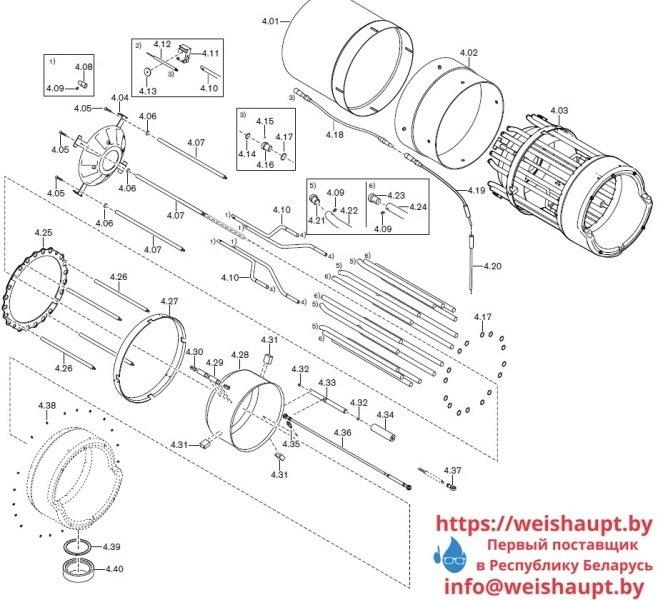Запчасти к газовым горелочным устройствам Weishaupt G70/4-A ZM-NR. Схема 4.