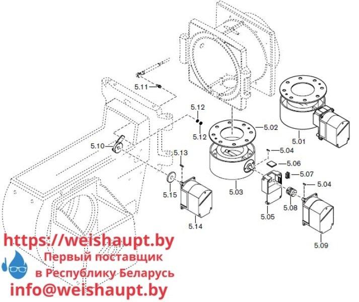 Запчасти к газовым горелочным устройствам Weishaupt G70/4-A ZM-NR. Схема 5.