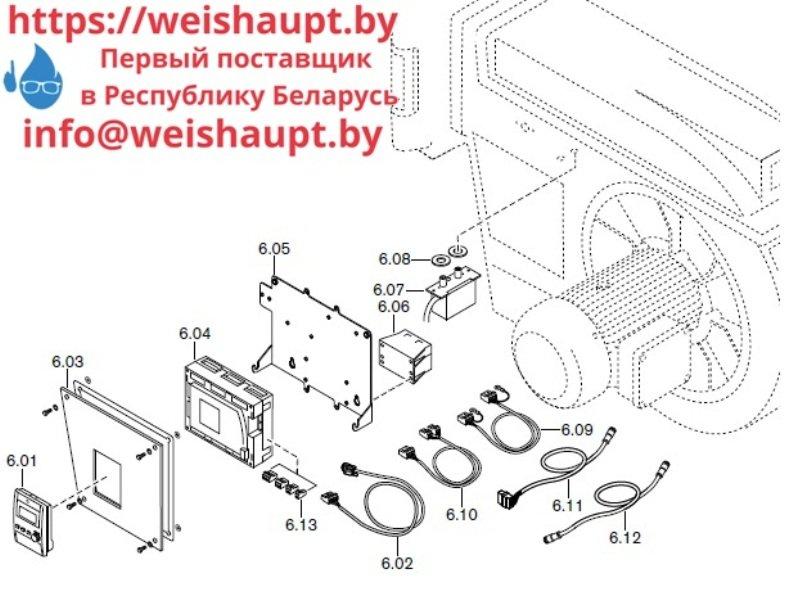 Запчасти к газовым горелочным устройствам Weishaupt G70/4-A ZM-NR. Схема 6.