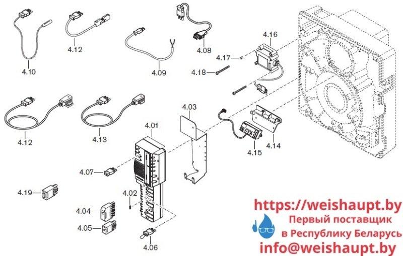 Запчасти к газовым горелочным устройствам Weishaupt WG10.../0-D ZM-LN. Схема 4.