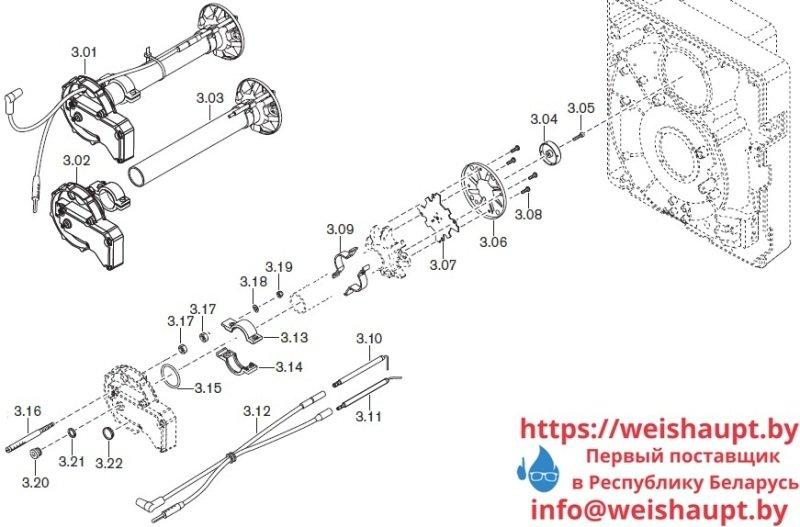 Запчасти к газовым горелочным устройствам Weishaupt WG10.../1-D Z-LN. Схема 3.