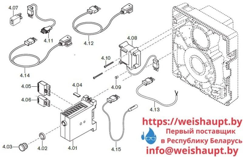 Запчасти к газовым горелочным устройствам Weishaupt WG10.../1-D Z-LN. Схема 4.
