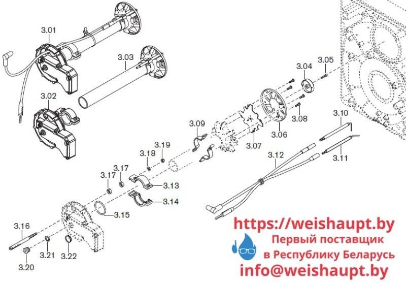 Запчасти к газовым горелочным устройствам Weishaupt WG10../1-D ZM-LN. Схема 3.