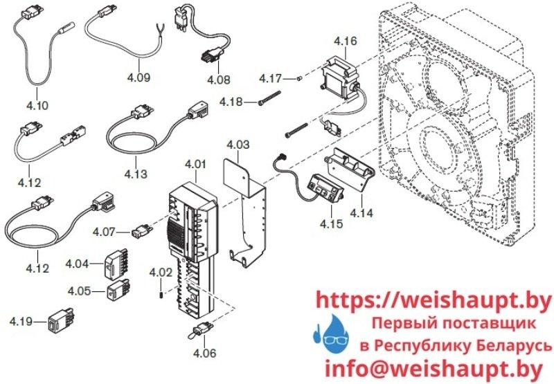 Запчасти к газовым горелочным устройствам Weishaupt WG10../1-D ZM-LN. Схема 4.