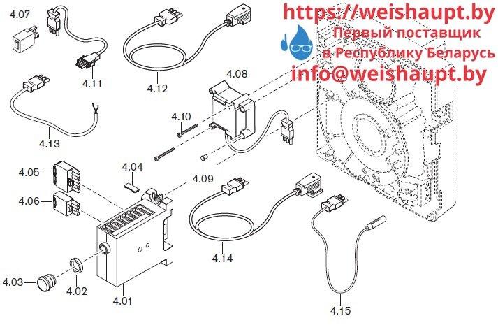 Запчасти к газовым горелочным устройствам Weishaupt WG20.../1-C Z-LN. Схема 4.