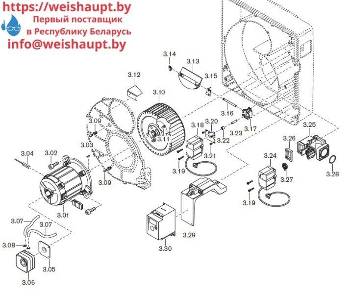 Запчасти к газовым горелочным устройствам Weishaupt WG30.../1-C ZM-LN. Схема 3.