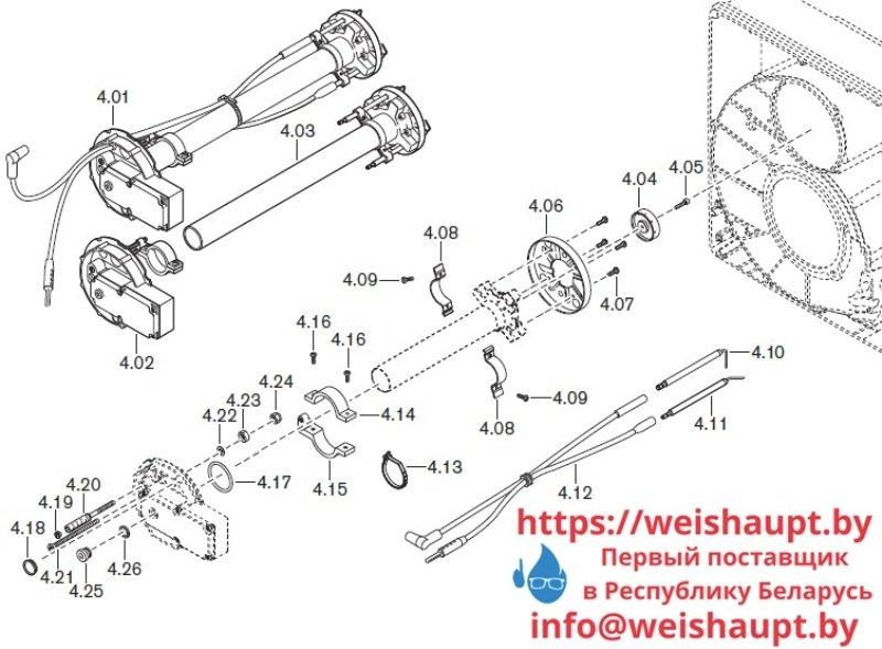 Запчасти к газовым горелочным устройствам Weishaupt WG40.../1-A ZM-LN. Схема 4.