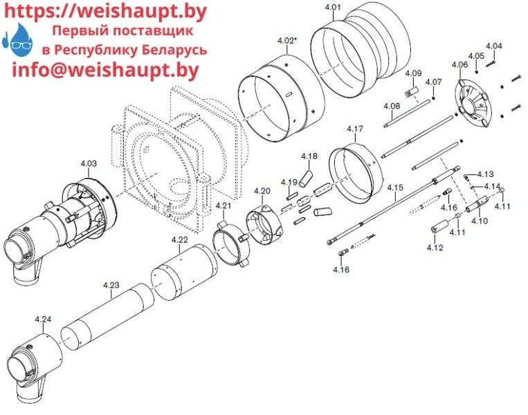 Запасные части к комбинированной горелке Weishaupt RGL30/2-A ZM-NR (W-FM 100/200). Схема 4.