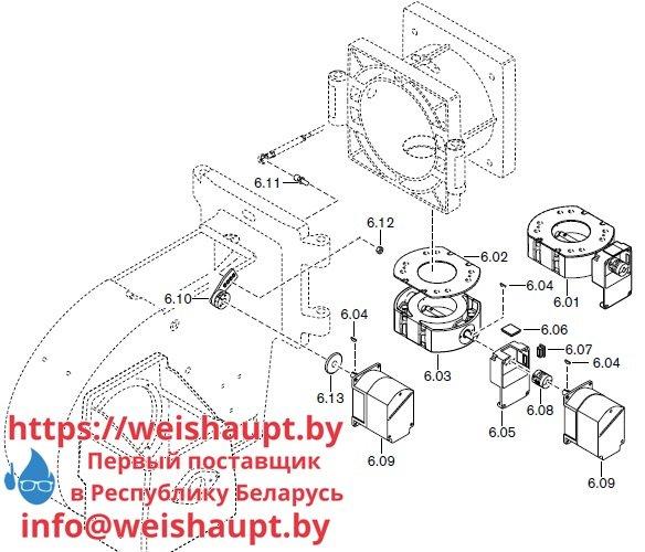 Запасные части к комбинированной горелке Weishaupt RGL30/2-A ZM-NR (W-FM 100/200). Схема 6.