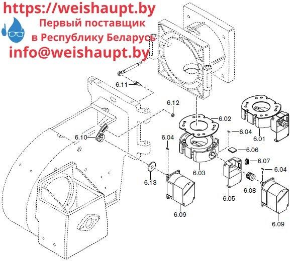 Запасные части к комбинированной горелке Weishaupt RGL50/2-A ZM-NR (W-FM 100/200). Схема 6.