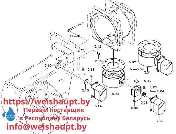 Запасные части к комбинированной горелке Weishaupt RGL70/1-B 3LN (W-FM 100/200). Схема 5.