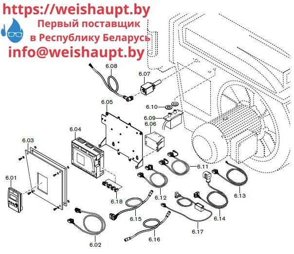 Запасные части к комбинированной горелке Weishaupt RGL70/1-B 3LN (W-FM 100/200). Схема 6.