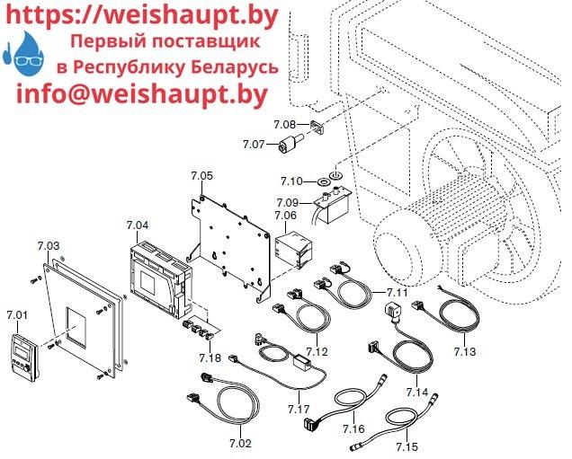 Запасные части к комбинированной горелке Weishaupt RGL70/1-B ZM-NR (W-FM 100/200). Схема 7.