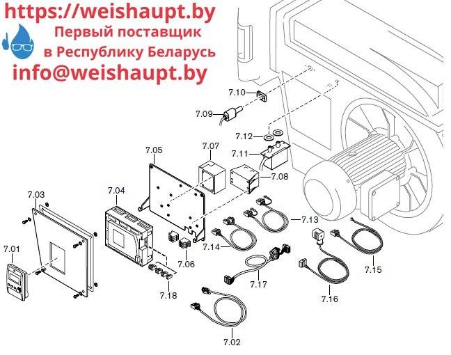 Запасные части к комбинированной горелке Weishaupt RGL70/3-A/ZM-NR (W-FM 100/200). Схема 7.