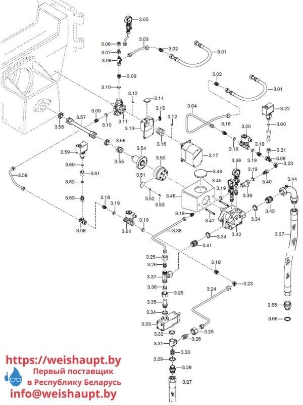 Запасные части к комбинированной горелке Weishaupt RGL70/4-A ZM-NR (W-FM 200). Схема 3.