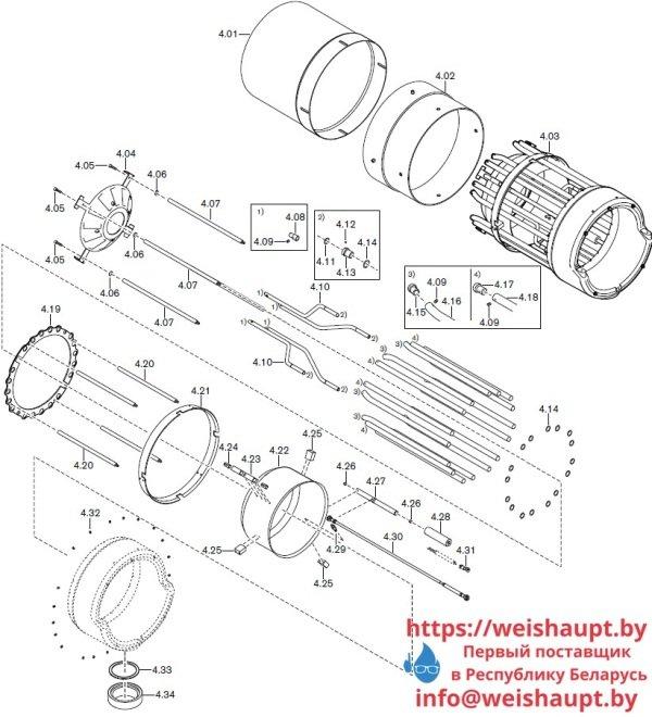 Запасные части к комбинированной горелке Weishaupt RGL70/4-A ZM-NR (W-FM 200). Схема 4.