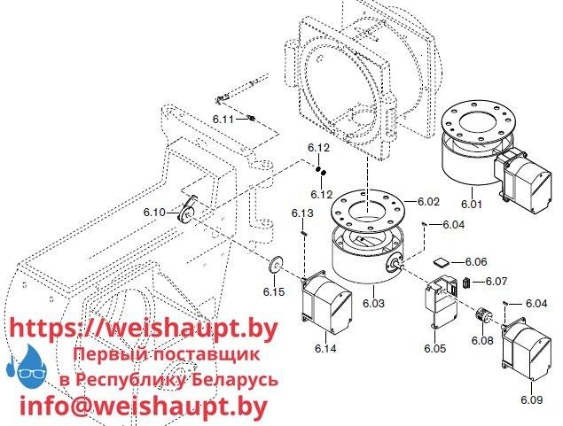 Запасные части к комбинированной горелке Weishaupt RGL70/4-A ZM-NR (W-FM 200). Схема 6.