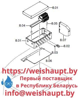 Запасные части к комбинированной горелке Weishaupt RGMS50/2-A ZM-NR (W-FM 100/200). Схема 8.