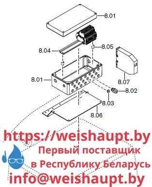 Запасные части к комбинированной горелке Weishaupt RGMS60/2-A ZM-NR (W-FM 100/200). Схема 8.