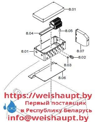 Запасные части к комбинированной горелке Weishaupt RGMS70/3-A ZM-NR (W-FM 200). Схема 8.