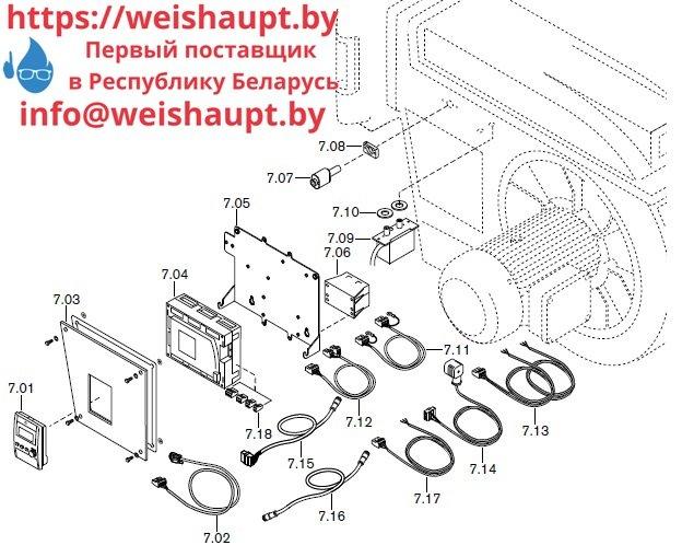 Запасные части к комбинированной горелке Weishaupt RGMS70/4-A ZM-NR (W-FM 200). Схема 7.