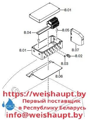 Запасные части к комбинированной горелке Weishaupt RGMS70/4-A ZM-NR (W-FM 200). Схема 8.