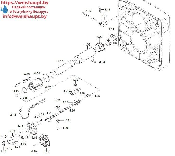 Запасные части к комбинированной горелке Weishaupt WGL30/1-C/ZM. Схема 4.