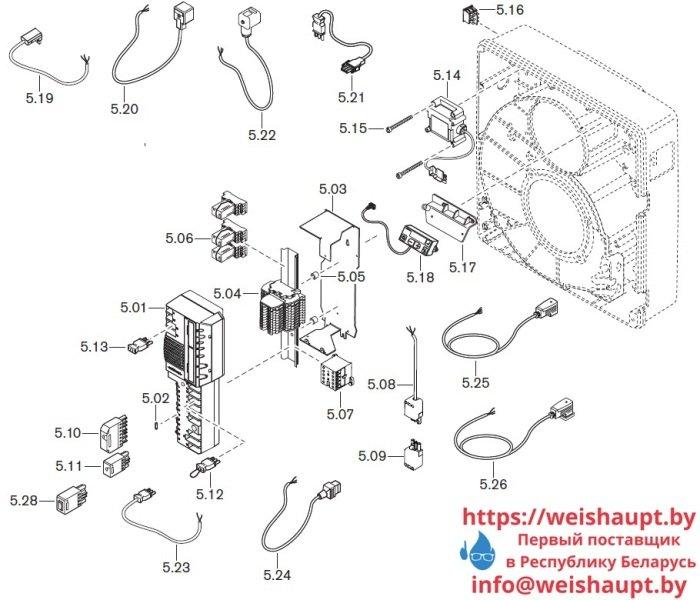 Запасные части к комбинированной горелке Weishaupt WGL30/1-C/ZM. Схема 5.