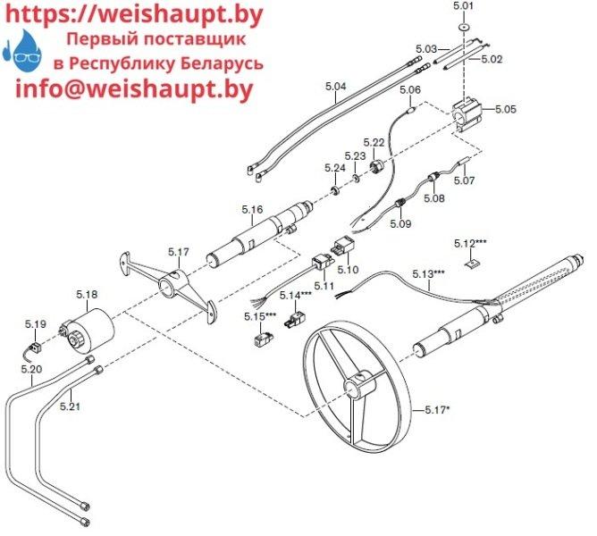 Запчасти к жидкотопливным горелочным устройствам Weishaupt RMS70/2-A ZM (W-FM 100/200). Схема 5.