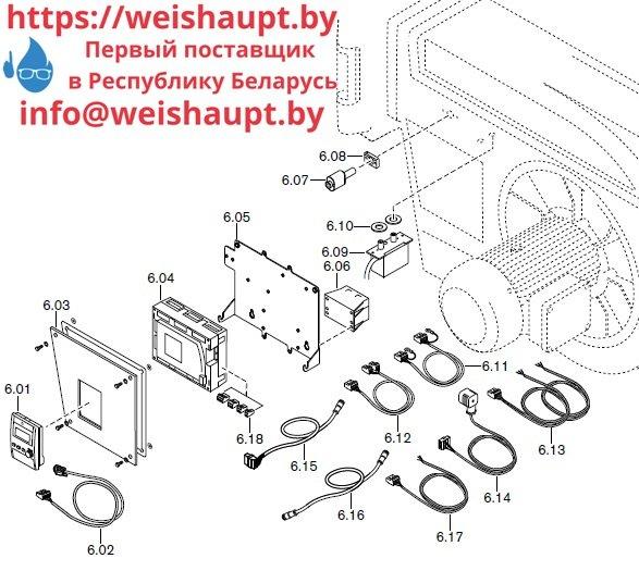 Запчасти к жидкотопливным горелочным устройствам Weishaupt RMS70/2-A ZM (W-FM 100/200). Схема 6.