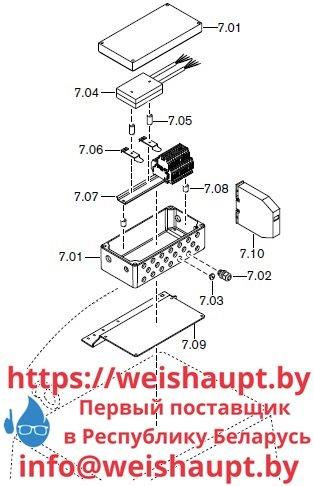 Запчасти к жидкотопливным горелочным устройствам Weishaupt RMS70/2-A ZM (W-FM 100/200). Схема 7.