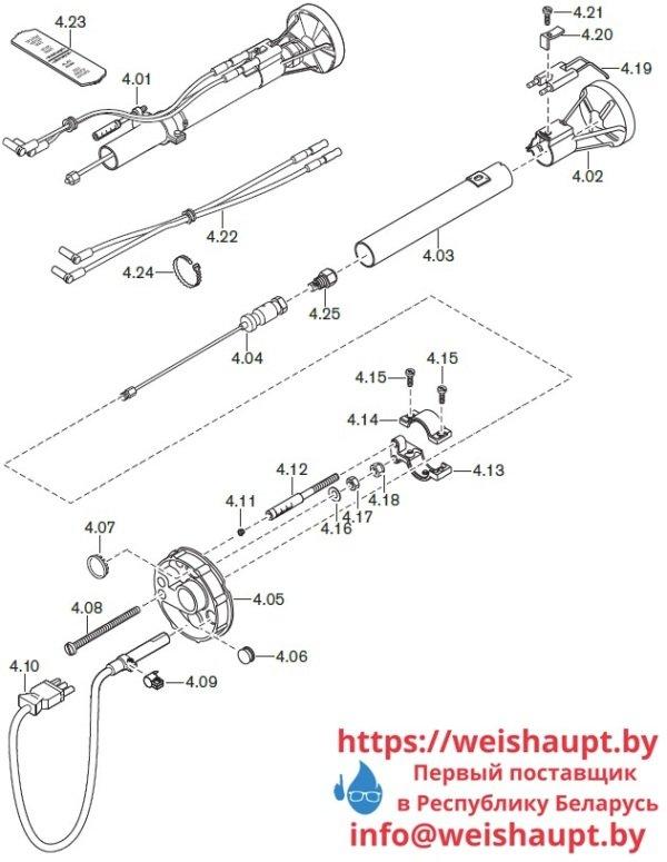 Запчасти к жидкотопливным горелочным устройствам Weishaupt WL10/3-D. Схема 4.