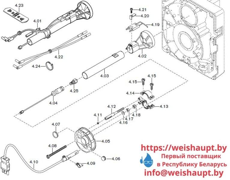 Запчасти к жидкотопливным горелочным устройствам Weishaupt WL10/3-D Z. Схема 4.