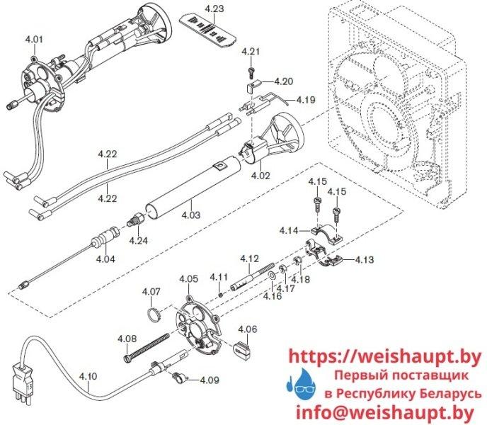 Запчасти к жидкотопливным горелочным устройствам Weishaupt WL5/2-B. Схема 4.